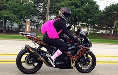 Wild at Heart GSXR Cheetah Girl at Ride for Breast Cancer