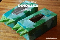 DIY Tissue Box Dinos