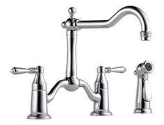 Two Handle Bridge Kitchen Faucet with Spray : 62536LF-PC : Tresa : kitchen : Brizo