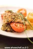 מתכון פילה דניס בעשבי תיבול  file fish with herb in the oven