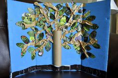 After reading books about Earth Day this week we decided to make a piece of art using recyclable materials. (ok, really I decided, but the kids went along with it) Since trees are so good for our Earth, it became our inspiration. These are the books we read this week about Earth Day. Love Your World …