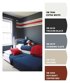 Boys room.  Stripes are great and colors are exactly like my boys.