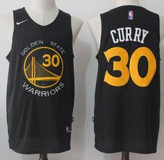 6ee589d87 Men's Golden State Warriors Stephen Curry Black with Yellow Nike Swingman  Stitched NBA Jersey