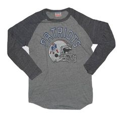 Official New England Patriots ProShop - JF Throwback L S Triblend  Crew-Charcoal   df99e4832