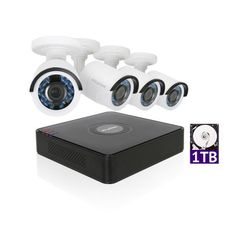 LaView 1080P HD 4 Cameras 4CH Home Video Security Camera System w/ 1TB HDD 2MP Night View Cameras Cctv Surveillance Kit, Black