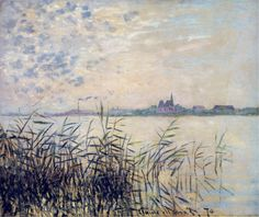 "concreteandtrees: "" The Seine near Argenteuil, 1874 Claude Monet """