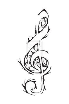 Musical tattoo design.