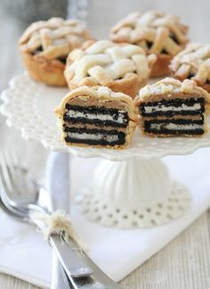 Oreo and peanut butter layered baby pie recipe