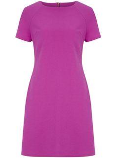 Purple Cotton Pique Shift Dress