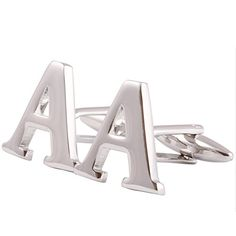 Men's Shirts Cufflinks Alphabet Letter High-Quality 4 Color(A-Z) * Check this valentines gift ideas by going to the link at the image.