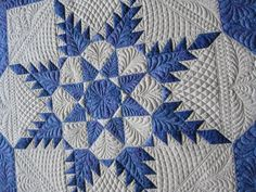 Feathered Star with beautiful quilted patterns