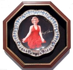2003 The Jeweled Tribute Marilyn Monroe 2nd Issue Ruby Legend Plate W/ Frame  #famous #hollywoodlife www.zapvintage.com