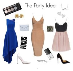 """""""The Party Idea"""" by ciarne28 on Polyvore featuring Rare London, Halston Heritage, Christian Louboutin, Gianvito Rossi, Rebecca Minkoff, Vivienne Westwood, Witchery and NARS Cosmetics"""
