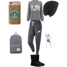 COLD and still NOT CARING by livinlifewithlauren on Polyvore featuring polyvore fashion