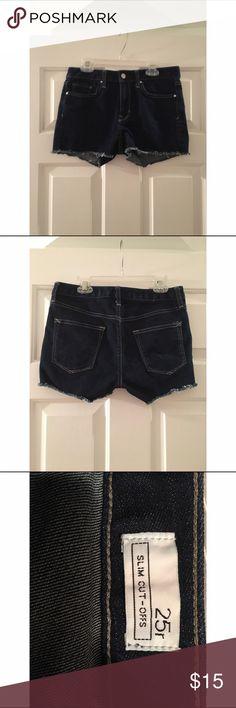 GAP DARK JEAN SHORTS Gap dark jean shorts. GAP Shorts