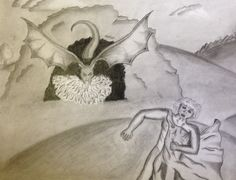 """Dragon's Fury"" by Jorge. Texas Renaissance Festival School Days Student Art Competition-High School, 2014"