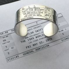CUSTOMIZABLE Concert Ticket Cuff Bracelet by LoraDouglasJewelry