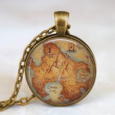 Peter Pan Neverland Map Necklace