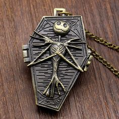 Nightmare Before Christmas Necklace Pocket Watch