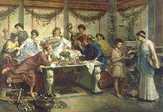 Lukullus ma dla Was ciekawostkę!  W starożytnym Rzymie najwyższy rachunek za jedną ucztę, wyniósł aż 200.000 sestercji. Aby dobrze zarabiający dowódca chciał wyprawić taką ucztę, musiałby ponad 10 lat zbierać pieniądze, nie robiąc w między czasie żadnych wydatków.