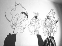 Portrets, shadow conversation- Wire and lead- by Michèle Baudet 2012