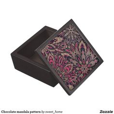 Chocolate mandala pattern gift box  #Home #decor #Room #Interior #decorating #Idea #Styles #Traditional #Boho #Indian #Vintage #floral #motif