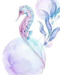 Lámina de caballito de mar