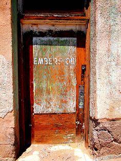 Rusty shabby door