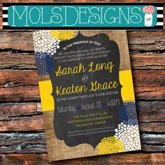 Any Color WEDDING BURLAP CHALKBOARD Floral Vintage par MolsDesigns