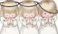 CHRISTMAS ANGELS CLIP ART