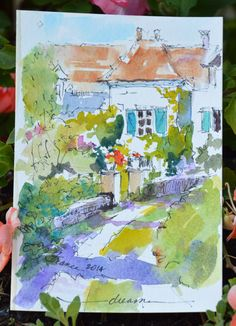 Dreama's at it again. Join her for watercolour in France. Sigh!