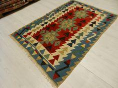 "Traditional Vintage Kilim Rug 3'5""x5'2"" Decorative Kilim Rugs Bohemian Kilim Rug Floor Kilim Rug Turkey Kilim Rug Home Decor Etnic Kilim Rug"