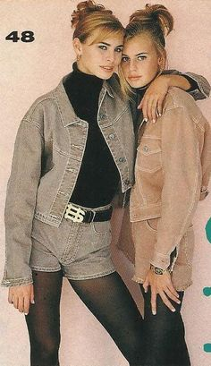 Krissy and Niki Taylor 1992  Seventeen Magazine was my favorite.