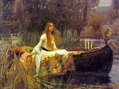 I love this painting! of Elaine of Astolat - The Lady of Shalott