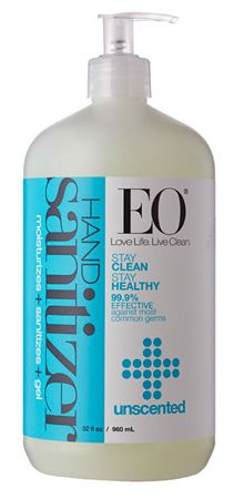 EO® Hand Sanitizer Gel Unscented (32 oz) - The natural plant-based alternative to chemical laden hand sanitizers. Soothing Jojoba Oil nourishes and moisturizes. Vegetable Glycerin is naturally hydrating. Free from synthetic fragrances, cruelty-free, gluten-free, & GMO-free.
