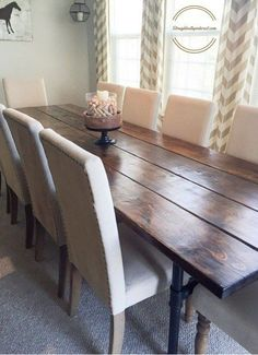Learn How To Build An Easy Industrial Farmhouse Pipe Leg Dining Table That  Seats Up To