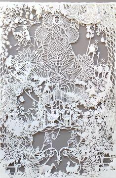 Emma van Leest — Large Infanta, 2013, archival paper, foamcore and glue, 78 x 57 cm.
