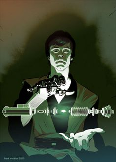 Love stuff like this. Awesome Star Wars art featuring Luke constructing a new lightsaber.