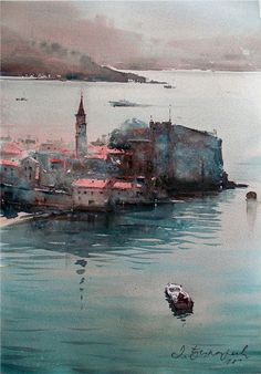 Budva, watercolor. 54x36cm. Dusan Djukaric http://www.dusandjukaric.com/gallery/