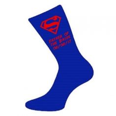 £4 Superman Style Wedding Socks - Groom, Best Man, Usher, Father of the Groom etc..