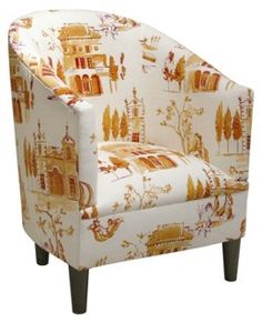 Ashlee Cotton Tub Chair, Tangerine