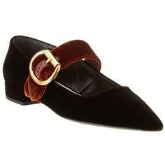 bf74166927a8 Prada Prada Velvet Pointy-Toe Ballerina Flat Velvet Slippers