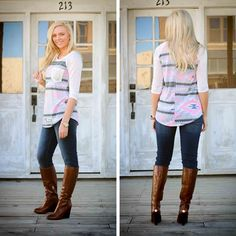 Add a pop of color into your Fall wardrobe! Great casual top for a day out! S.M.L $26 #Lubellas #fallfashion #bvilleboutiquedistrict #outfitoftheday #fashionista