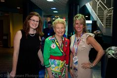Colleen Holcomb, Phyllis Schlafly, and guest.