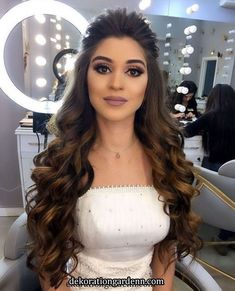 42 wedding hairstyles half up half down with curls and braid 42 Pretty Half up Half Down Hairstyle for Wedding Engagement Hairstyles, Wedding Hairstyles For Long Hair, Wedding Hair And Makeup, Bridal Hairstyles, Simple Bridal Hairstyle, Bridal Hair Buns, Front Hair Styles, Medium Hair Styles, Curly Hair Styles