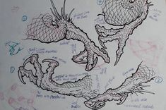 How well do you know your dragon claws? teaches the dragon claw in multiple articulations in the Dragon Masterclass. Link in bio! Japanese Dragon Tattoos, Japanese Tattoo Art, Japanese Tattoo Designs, Japanese Art, Dragon Claw, Dragon Art, Dragon Anatomy, Dragon Sketch, Japanese Drawings