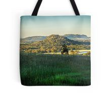 A View to Hanging Rock from Mount Macedon Tote Bag