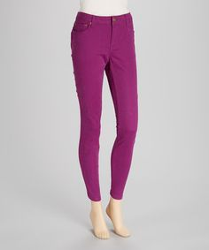 Take a look at this Grape Jeggings by BACCINI on #zulily today!