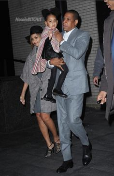 Beyonce, Jay Z and Blue Ivy at 'Annie' Movie Premiere