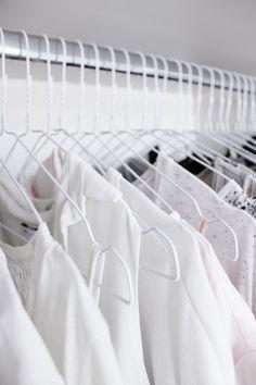 all white hangers